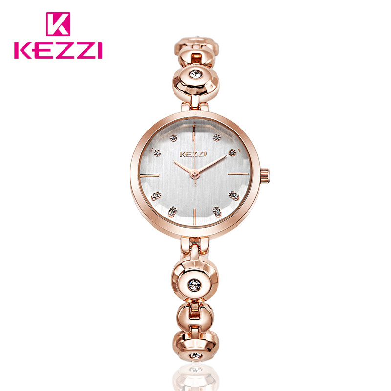 Hot Fashion Luxury Brand Women Lady Watch Gold Silver Bracelet Wristwatch Analog Display Quartz Watch kw1489