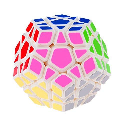 YJ YongJun Moyu Yuhu Megaminx Cubo Mágico de Plástico Blanco Venta Caliente Childern Teaser de Juguete Educativo para Niños y Adultos