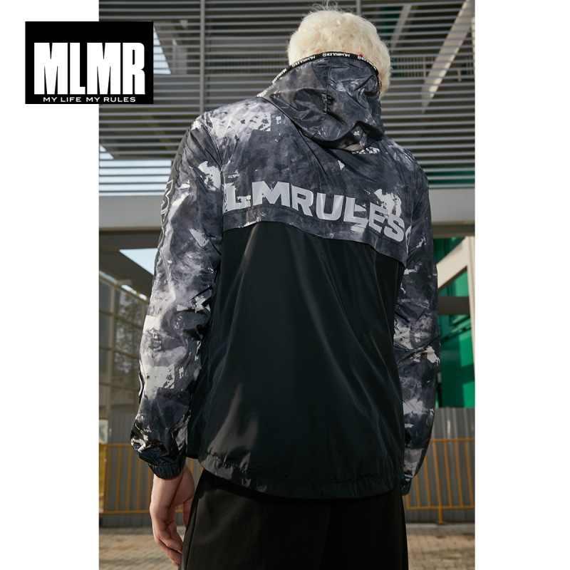 MLMR 男性の Chinlon 付きスタンドアップ襟長袖ジャケット M | 219121567