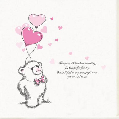 ᗗnowa Miłość Niedźwiedź Polarny Naklejki ścienne Wymienny Home