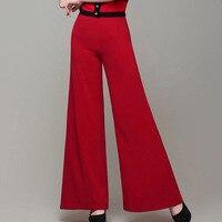 כיתה גבוהה ישר רחבים רגל נשי Slim OL ציפר גבוהה נשים מכנסיים מותן מכנסיים קיץ דקים ארוך הלבן שחור אדום