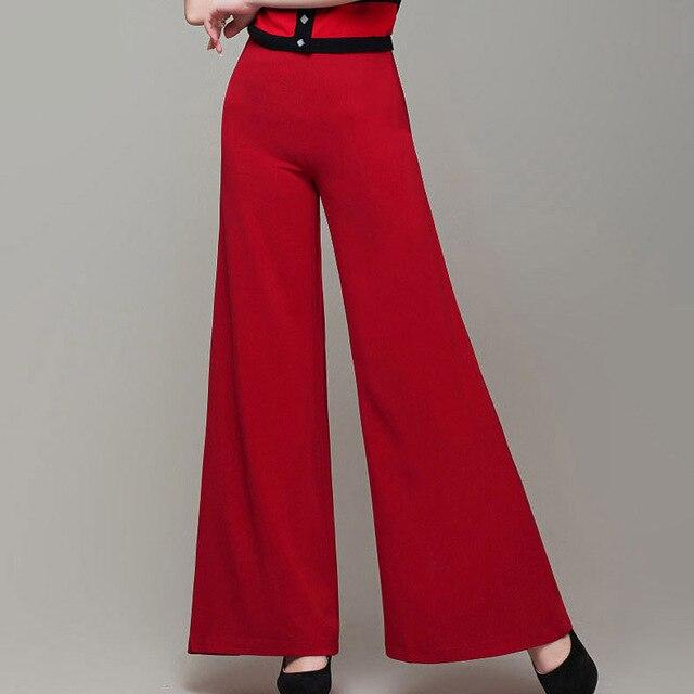 Slim Larga Ol Etero Pantaloni Superiore Femminile Qualità Gamba AY8xa