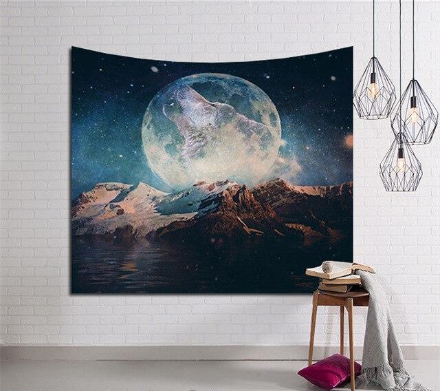 Galaxy Hängen Wandteppich Hippie Retro Wohnkultur Yoga Strandmatte 150x130 cm/150x100 cm