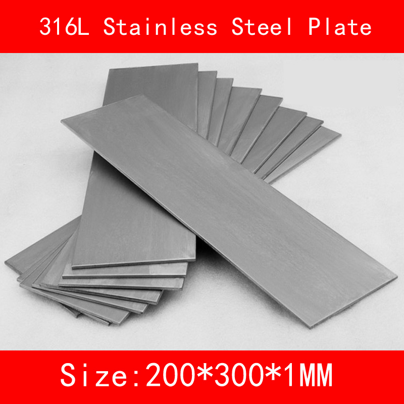 316L Stainless Steel plate size 1*200*300mm metal Sheet Brushed surface for DIY Industrial Lab цена