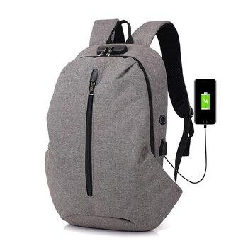 a9a3c333f001 Laamei защита от кражи рюкзак для мужчин USB ноутбука рюкзаки путешествия  школьные ранцы мужской школьный рюкзак школьный