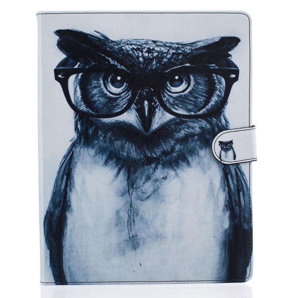 Glasses Owl Leather Flip Case for Apple iPad air1 2 iPad mini1 2 3 mini4 iPad2 3 4 ipad pro Case Stand Cover With Card Holder