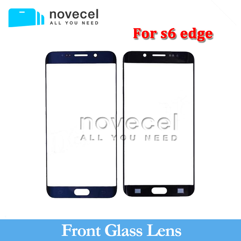 10 pcs Novecel good quality front glass lens for s6 edge  G925 LCD display outer touch panel screen glass replacement