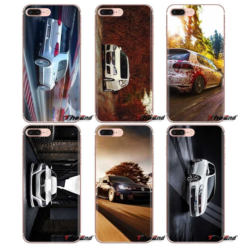 Мягкие прозрачные чехлы для iPod Touch Apple iPhone 4 4s 5 5S SE 5C 6 6 S 7 8 X XR XS Plus MAX Volkswagen Golf GTI Car