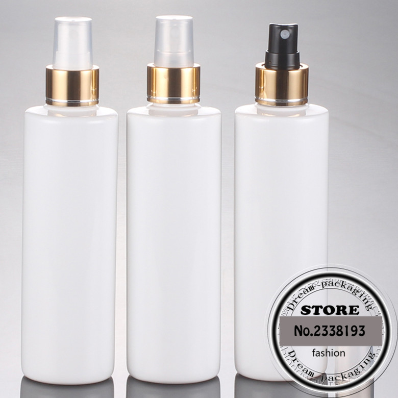 30Pcs lot 250ML Empty Plastic Perfume white Spray Bottle fine mist PET bottles container with pump