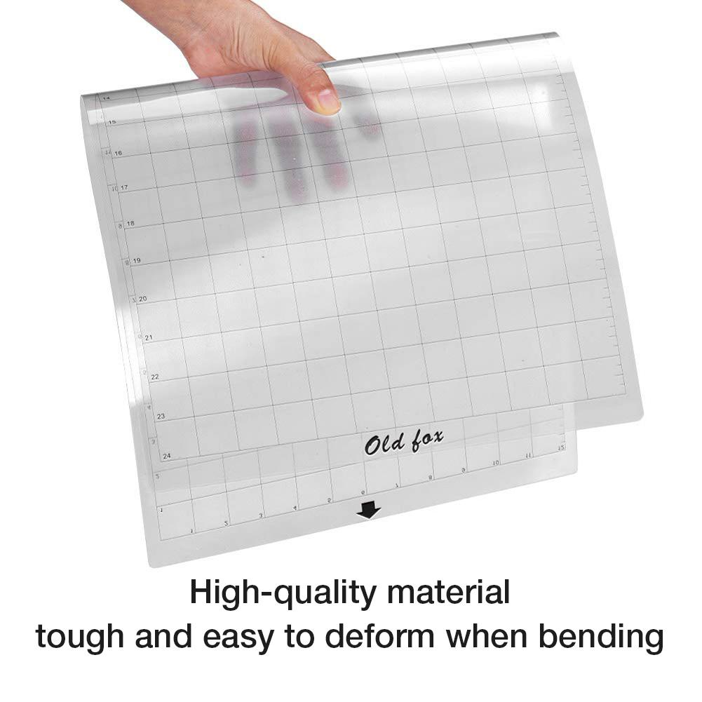 3PCS Replacement Cutting Mat Transparent Adhesive Mat Pad With Measuring Grid 12 By 12-Inch For Silhouette Plotter Machine
