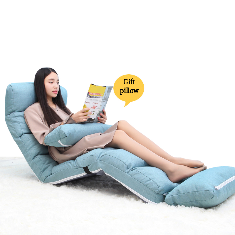 2017 New Lazy Bean Bag Sofa Tatami Folding Recliner Chair Creative Leisure Sofa Folding Easy&Space Saving&Easy Carry 7 Colors ...