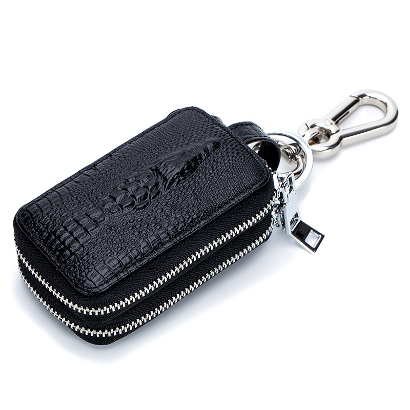 Portable PU Leather Protection Case Anti-Lost Cover For AirPods Wireless Headset Station-Piano Box Fashion Crocodile Car Key Cas