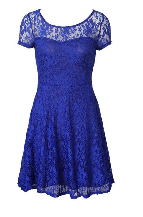 Elegant Sweet Hallow Lace Sexy Party Princess Dress