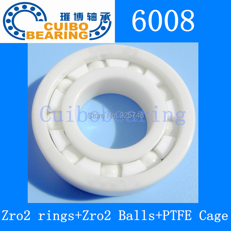 все цены на Free shipping 1pcs/lot auto parts Zro2 ceramic bearing 6008 40*68*15 mm онлайн