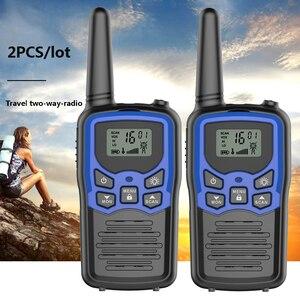 Image 2 - 2pcs/lot GoodTalkie T5 Handheld Wookie Talkie travel backpacker walkie talkie 5km Portable Two Way Radio
