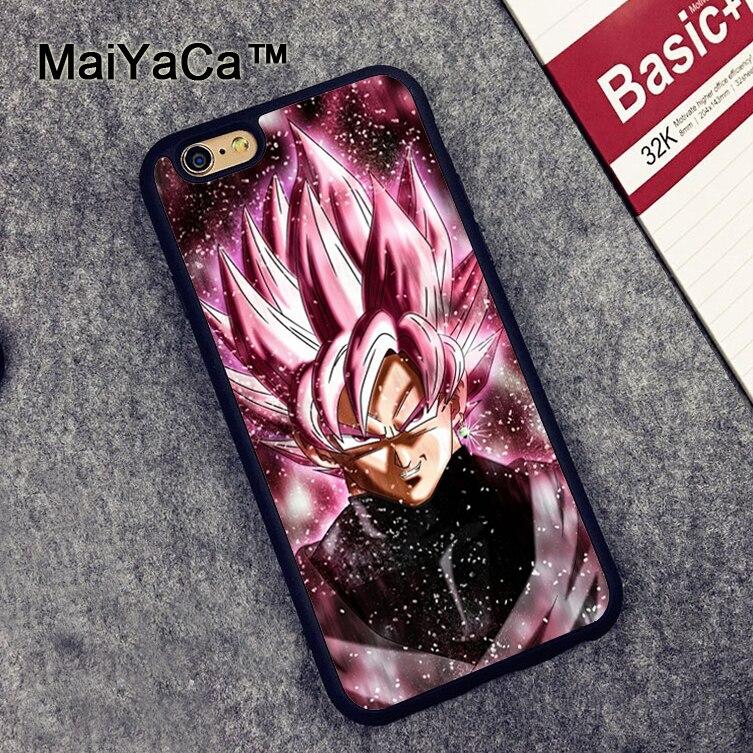 MaiYaCa DRAGON BALL Z Super Saiyan Black Goku Phone Case Skin Shell For iphone 7 8 6 6S Plus X