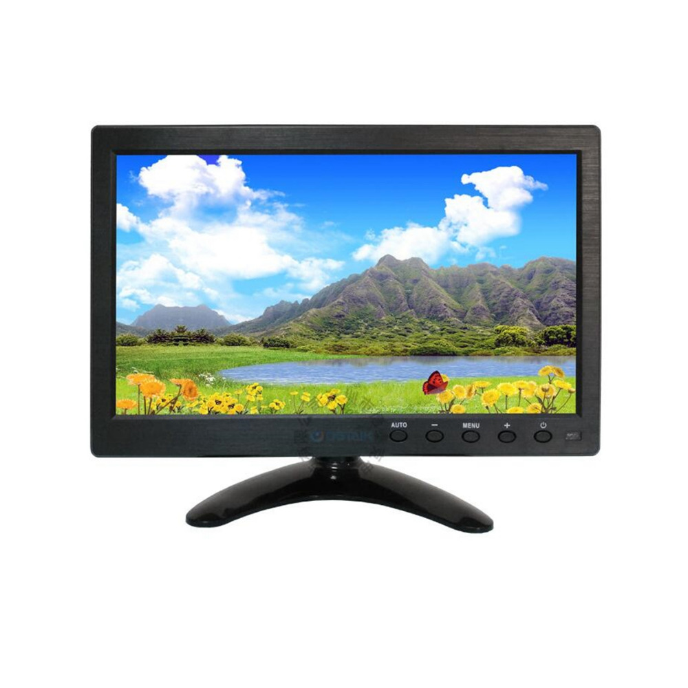 Wearson 10.1 pouce LCD Moniteur Écran D'affichage 16:9 1366*768 avec VGA/HDMI/BNC/AV Fonction pour PC & DVD & CCTV Système etc