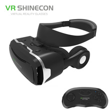 Newest 3D Glasses VR BOX  with headphone Virtual Reality 3D Video Glasses VR helmet  for 4.5-6.0 inch iPhone/Android/Movies