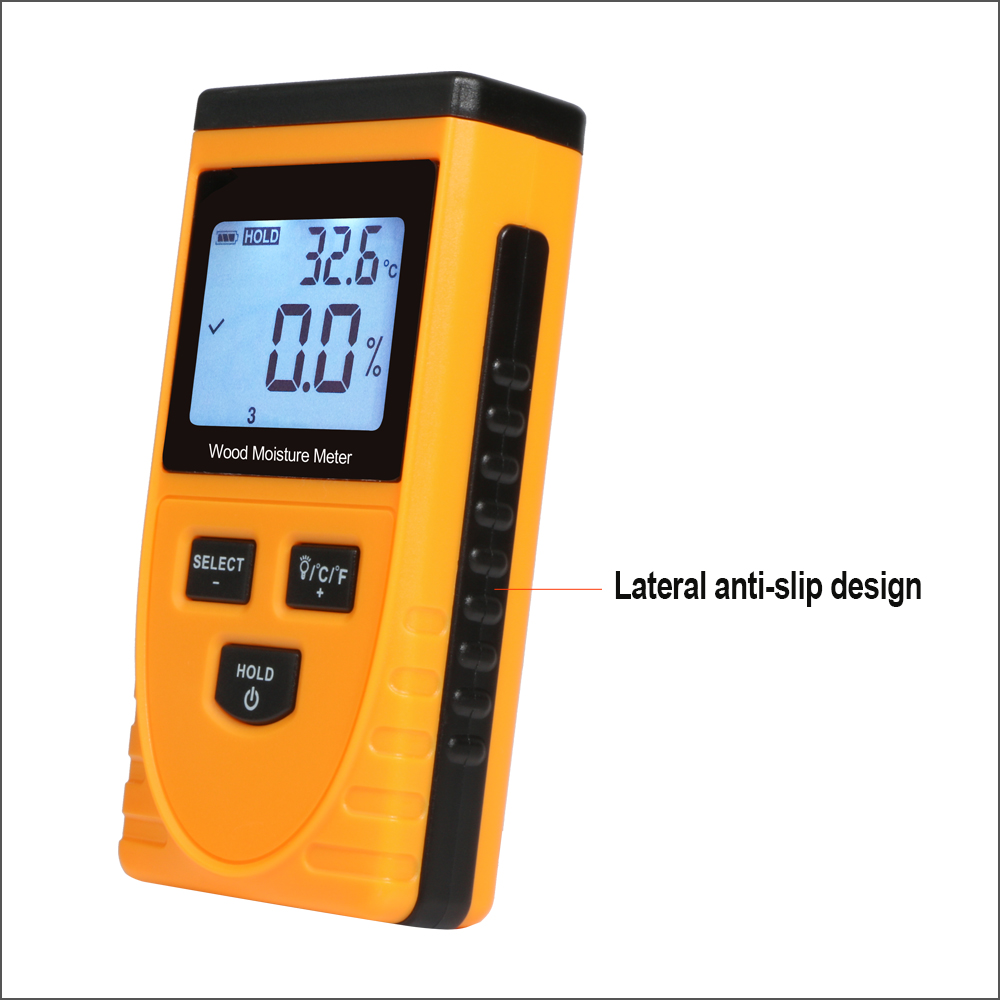 Tester Hygrometer Density RZ Wood Moisture Detector Meter Meter Content Digital Humidity LCD Wood Water Display GM630 Tools