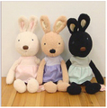45  cm Le sucre With Plaid Shirt  Plush Toy  Lovely Rabbit Birthday Gift For Baby