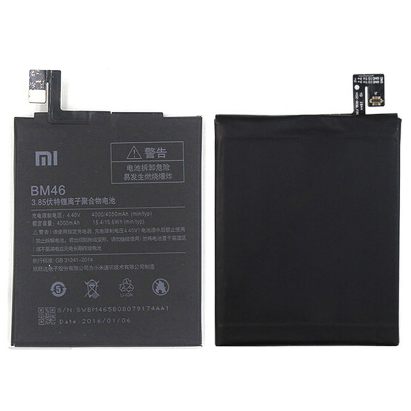 Free shipping 4000mAh High Capacity Original RedMi Note3 BM46 Battery For Xiaomi RedMi Note 3 Mobile Phone