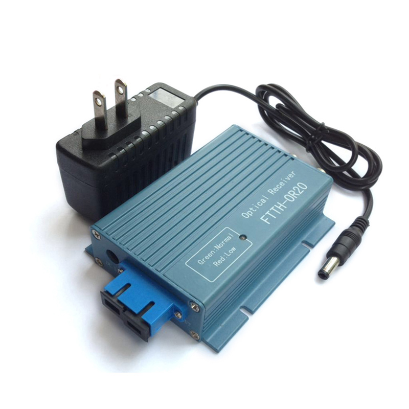 Hottest OR20 CATV FTTH AGC Fiber Optical Receiver 2port input 2port output CATV FTTH optical receiver SC/UPC