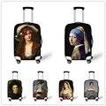 Famosa pintura impermeável bagagem capa protetora para 18 - 30 polegada carrinho de bagagem mala de viagem do Vintage elástico grosso cobre