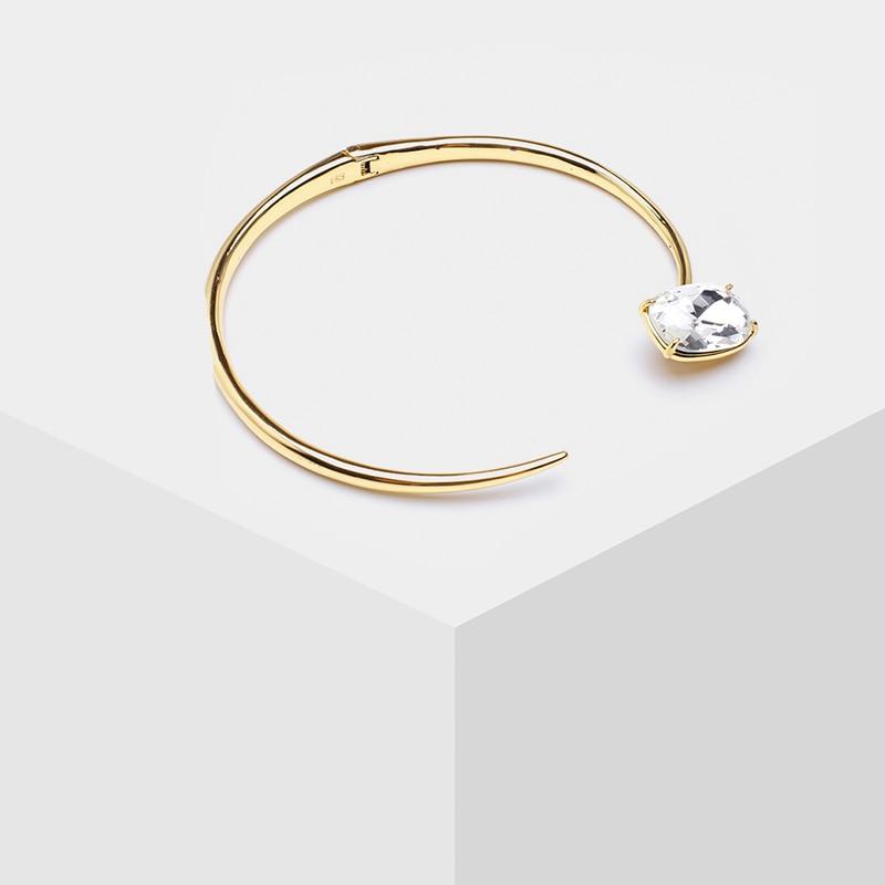 Amorita boutiqueLarge cristal collier métallique