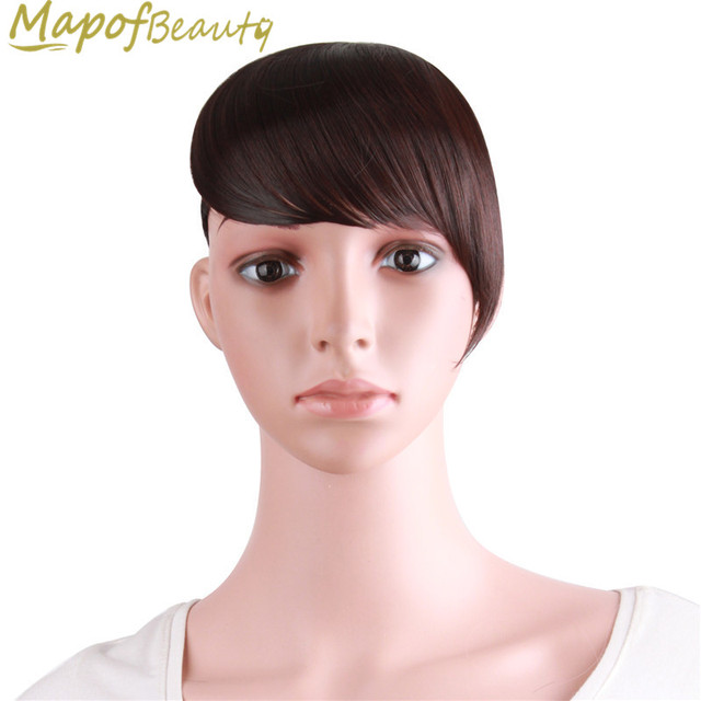 Synthetic Fringe Bangs Clip In Front Hair Extension For Women Fake