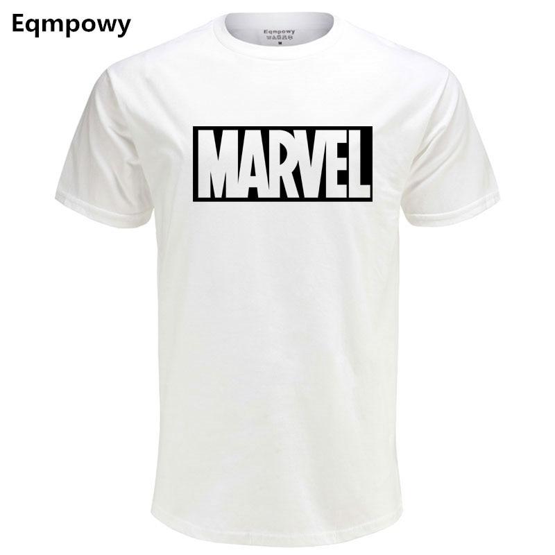 2018 új divat MARVEL T-shirt férfi és női pamut rövid ujjú - Férfi ruházat
