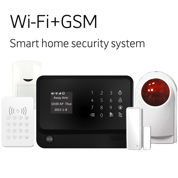 WiFi Internet GSM GPRS SMS OLED House Security Alarm Systemwifi GSM Alarm System For Home security System gprs gsm sms development board communication module m26 ultra sim900 stm32 internet of things with positioning