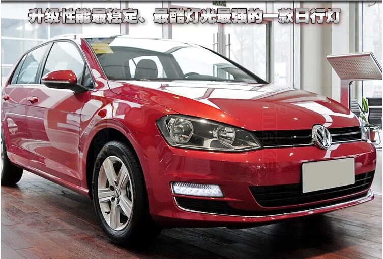 Free Shipping !!!  for  VW Volkswagen GOLF 7 led drl Daytime Running Light Fog light !Car special for VW GOLF 7 LED DRL 2011 2013 vw golf6 daytime light free ship led vw golf6 fog light 2ps set vw golf 6