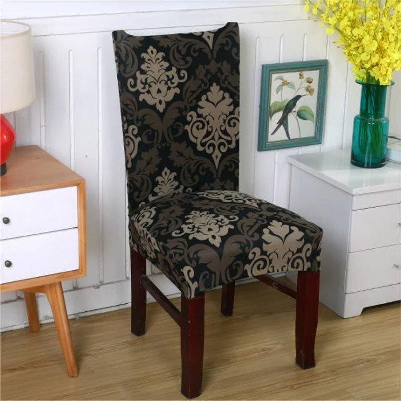 European Stretch Spandex Chair Cover Elastic Armchair Slipcover Furniture Dinning Kithcen Seat Cover For Wedding Party Office