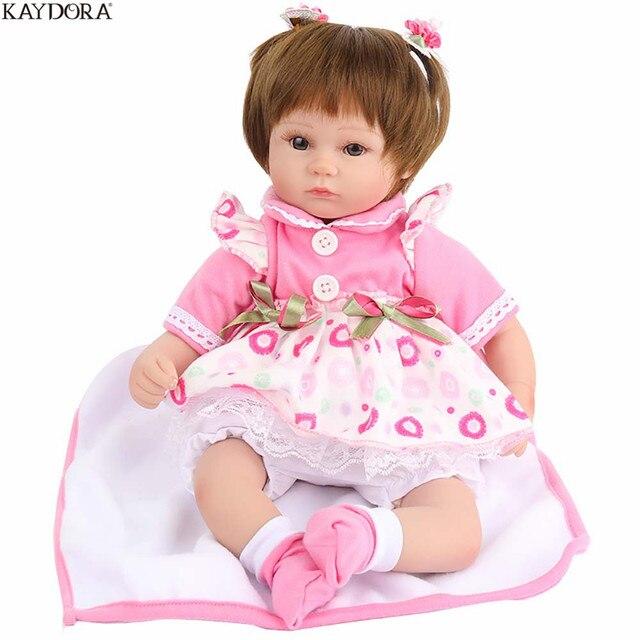KAYDORA Realistic Reborn Baby Soft Silicone Baby Dolls Alive Toys For Girl 16 Inch 40cm Educational Fashion Reborn Bebe Dolls