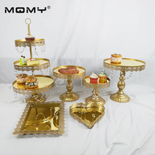 Gold Mirror wedding cake stand Metal cupcake for Birthday Parties