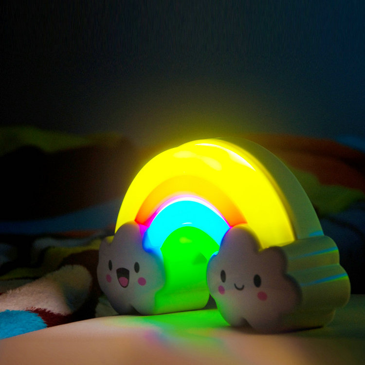 LED Rainbow Colorful Wall Sticker Night Light Baby Bedside Lamp Childrenu0027s  Gift Voiceu0026Light Control Decorative Lights Home Decor In LED Night Lights  From ...
