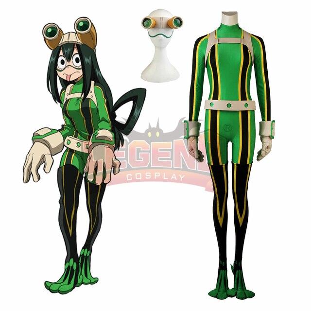 My Hero Academia Froppy cosplay Boku no Hero Akademia Tsuyu Asui Cosplay Costume frog hero costume Halloween Cosplay Costume