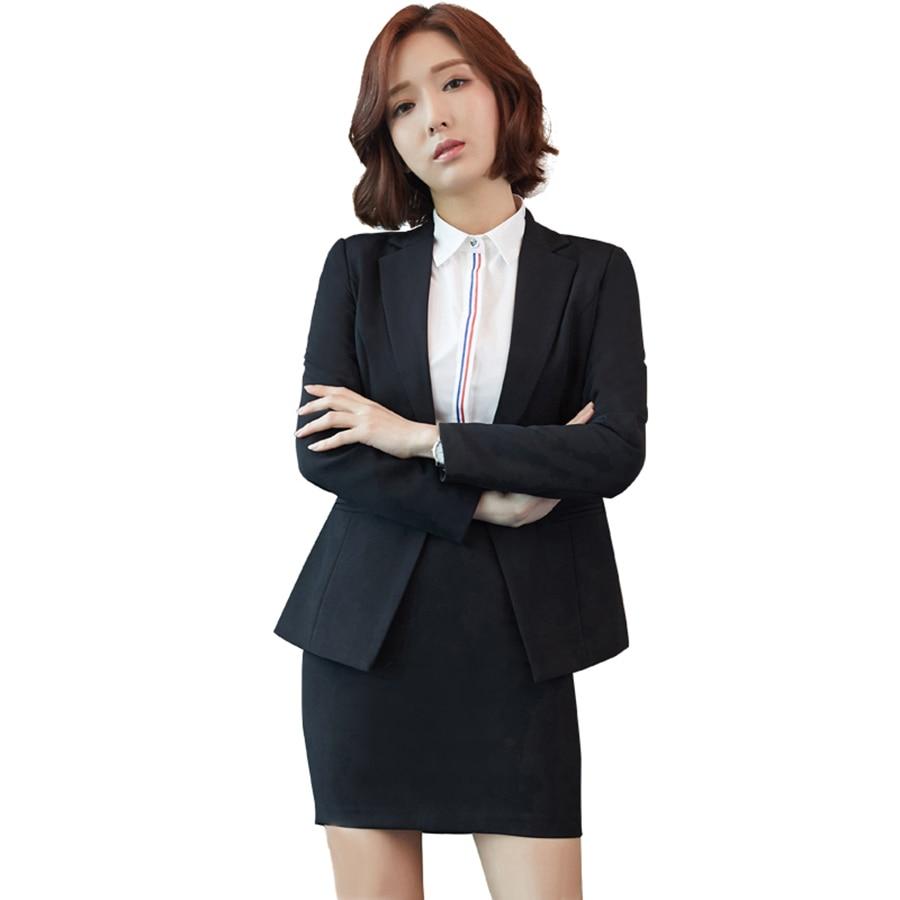 Костюм Женская офисная униформа брюки и куртки женские Модные Бизнес костюмы Для женщин Комплект из 2 предметов для офиса Повседневная обув