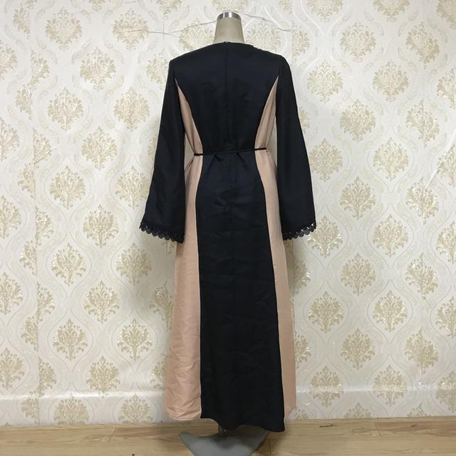 F8849-5 Lace Long dress Women  Abayas
