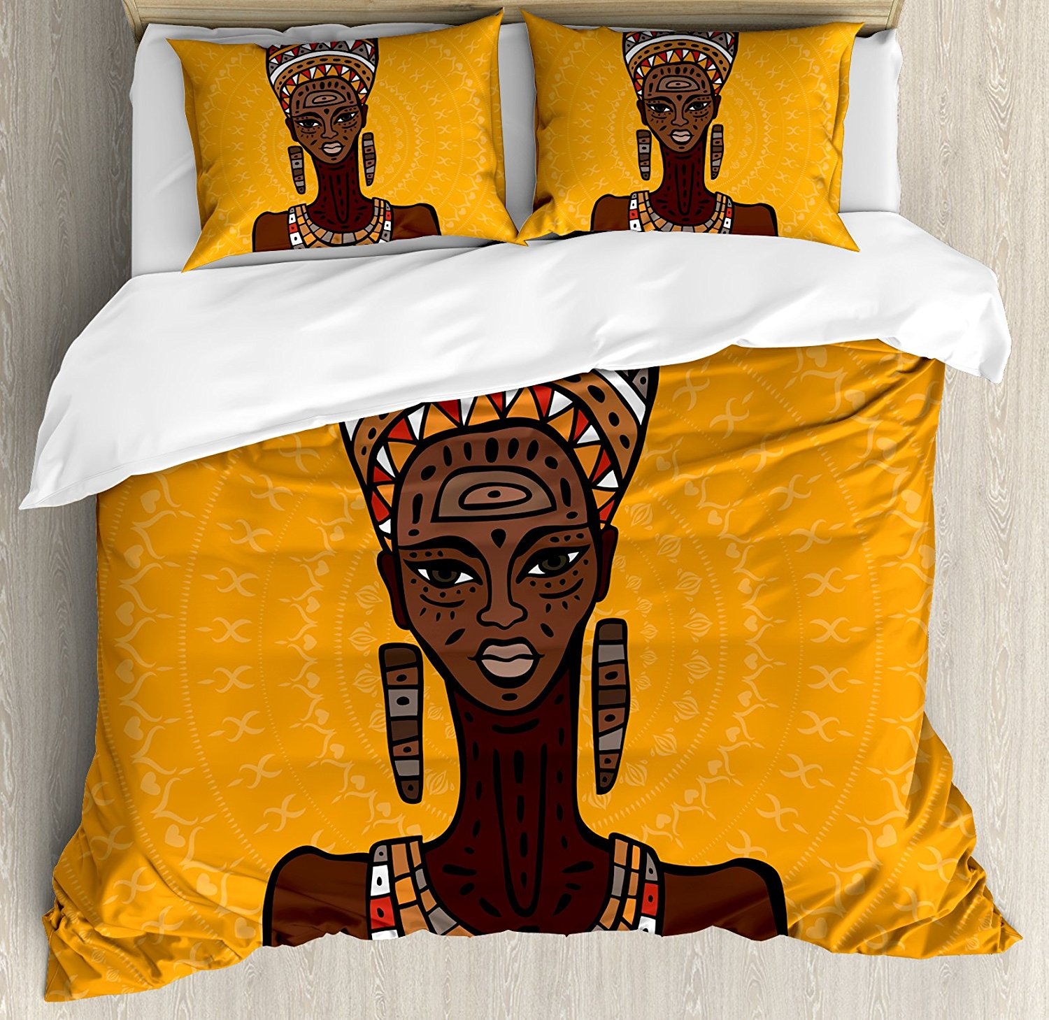 African Woman Duvet Cover Set Ethnographics