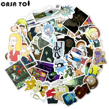 ФОТО 49  rick and morty Sticker wallpaper Decal Motorcycle Fridge  Skateboard Doodle  Funny Stickers for Auto Laptop Trunk