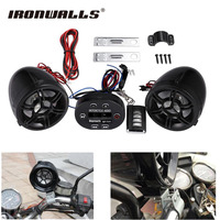 Ironwalls 12V Motorcycle Radio Audio Sound System MP3 USB Player Wireless Bluetooth ABS Shell Anti-theft Alarm Moto Accessories