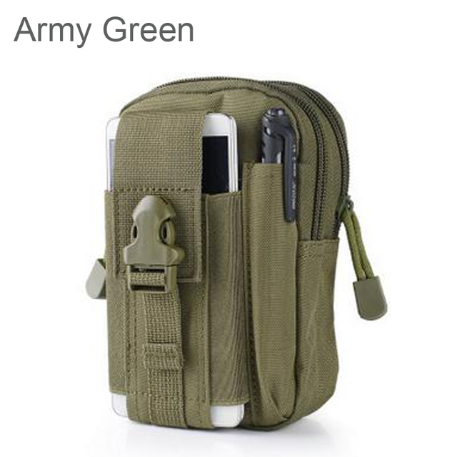Outdoor Camping Climbing Bag Tactical Military Molle Hip Waist Belt  Wallet Pouch Purse Phone Case for iPhone 7 for Samsung  3
