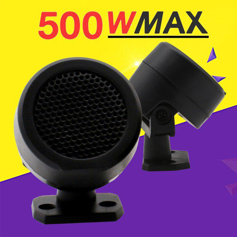 2PCS 500W Pre-Wired Tweeter Speakers Car Audio System Door Auto Audio Music Subwoofer Electronic Modification Loudspeaker
