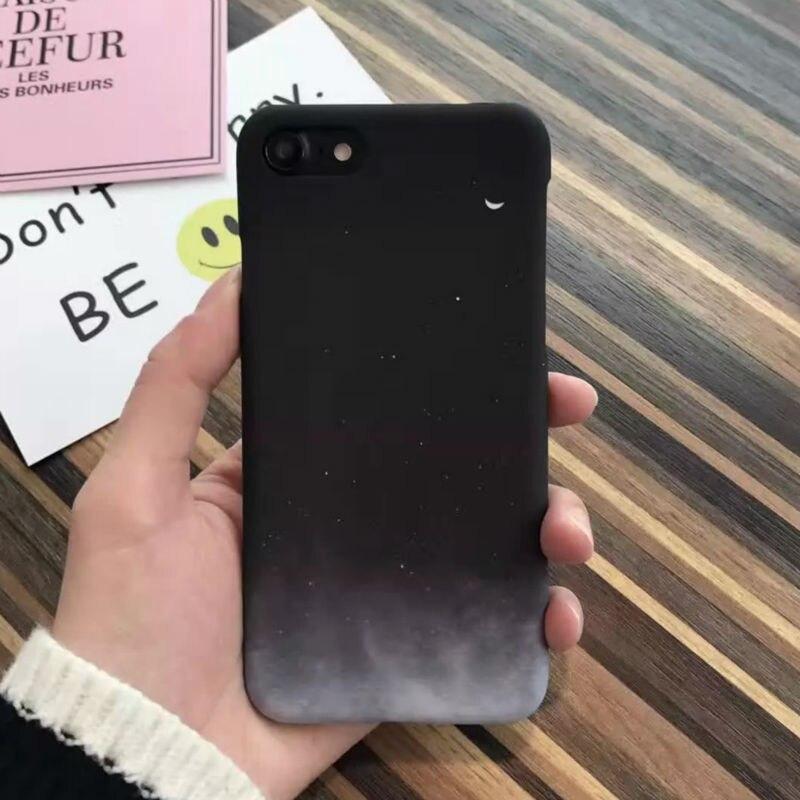 Caso de la manera encantadora luna impreso caso para iphone 6 s hermosas estrell