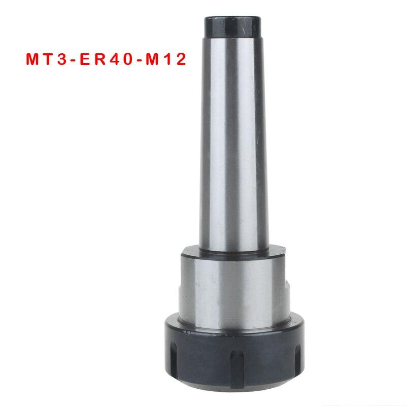 New Precision MT3 ER40 collet chuck Morse taper Toolholder MT3 ER40 collet chuck Holder MT3 ER40 M12 with a pull thread