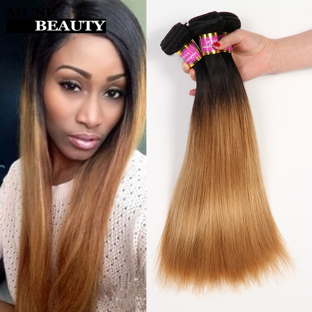 Top Quality Blonde Ombre Weave Malaysian Wavy Hair Omber Human Hair