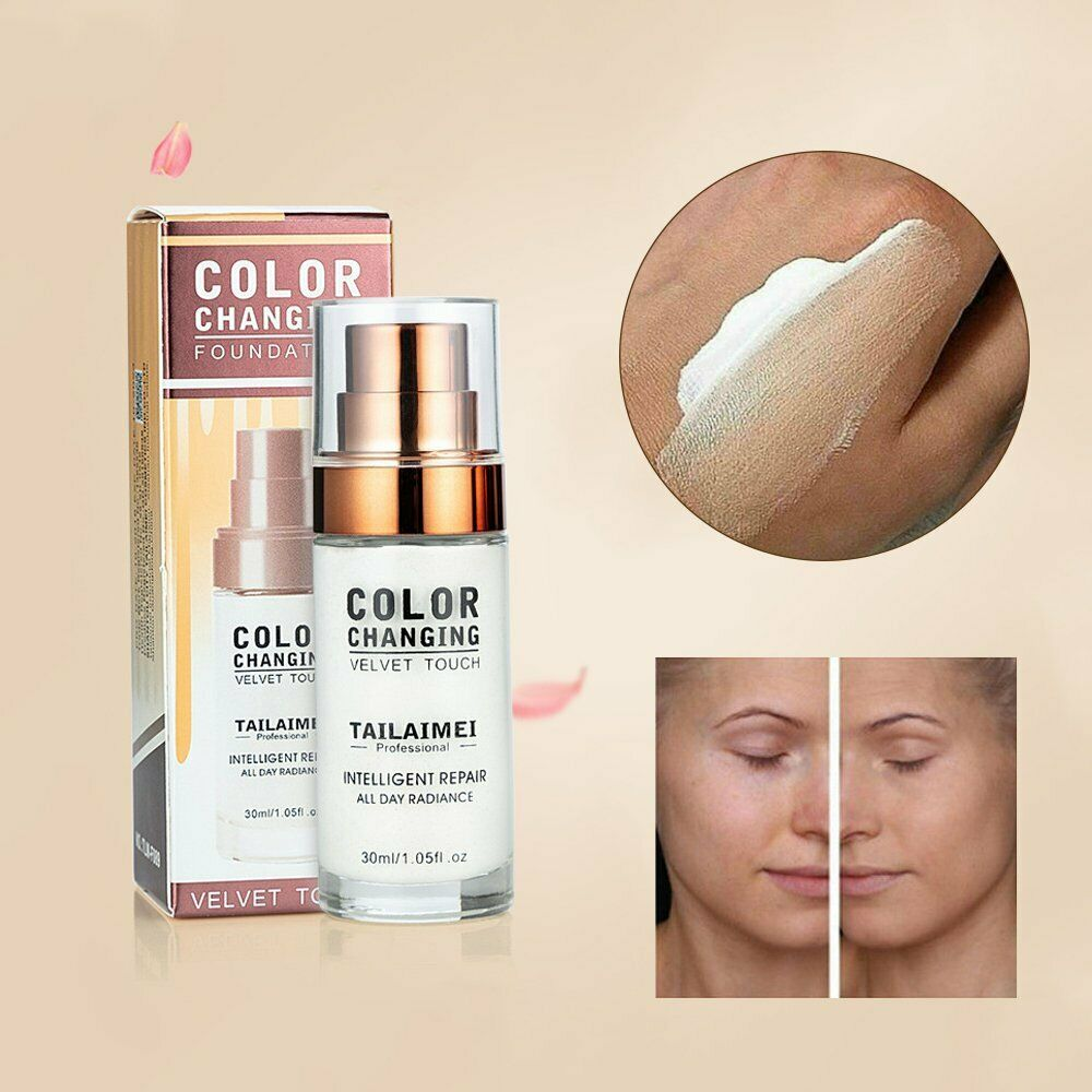 Pro Color Changing Foundation Makeup Base Nude Face Liquid