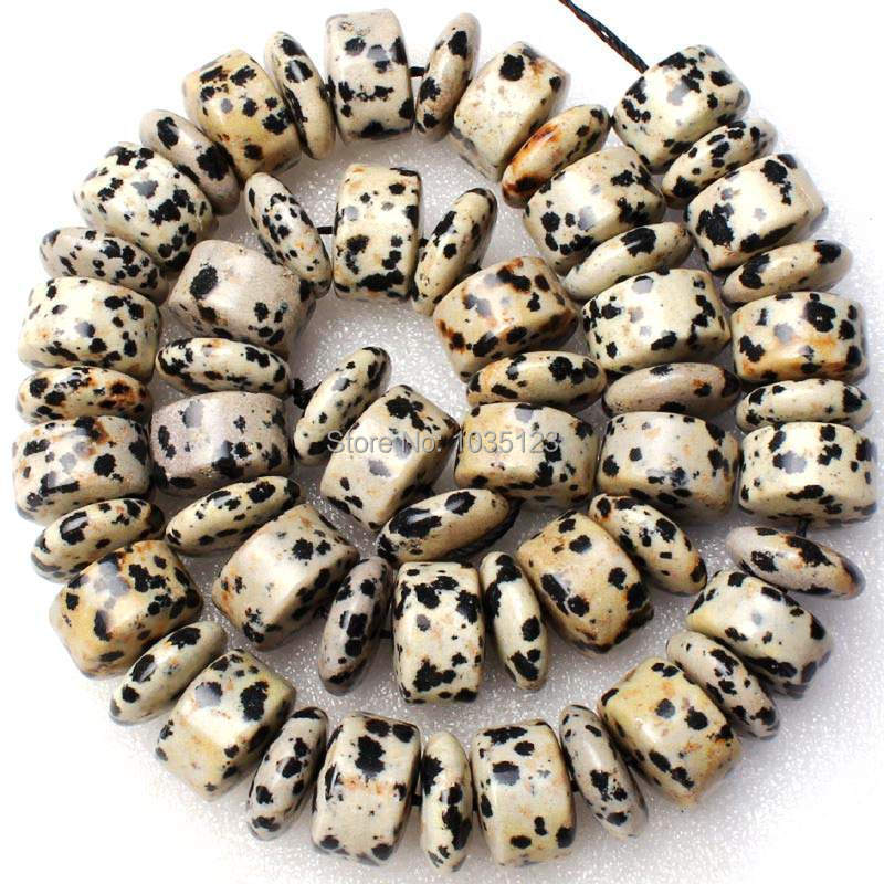 Free 5x14mm Coin And 9x14mm Column Shape Natural Dalmatian Stone Loose Beads Strand 15 DIY Creative Jewellery Making w2009