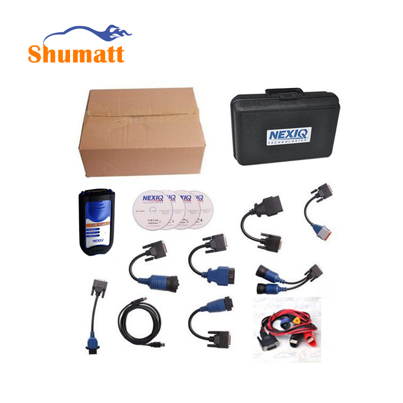 Diesel Truck Diagnosis Scan Newest Version NEXIQ 125032 USB LINK Heavy Duty Vehicle Diagnostic Tool With 9 Adapter 4 CD Software